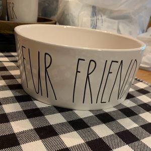 Rae Dunn FUR FRIEND dog bowl